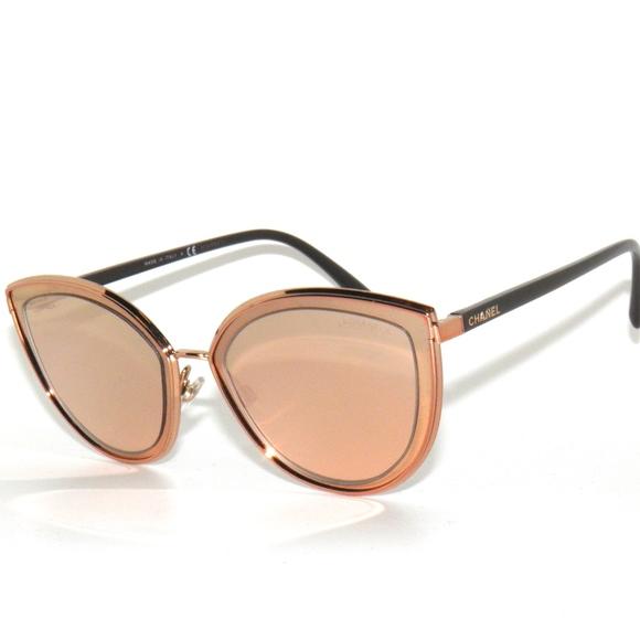 ef8b37319c Chanel 4222 Cut Eye Rose Gold Mirror Sunglasses
